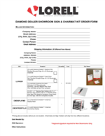 Diamond Dealer Order Form Sign Holders & Chairmat