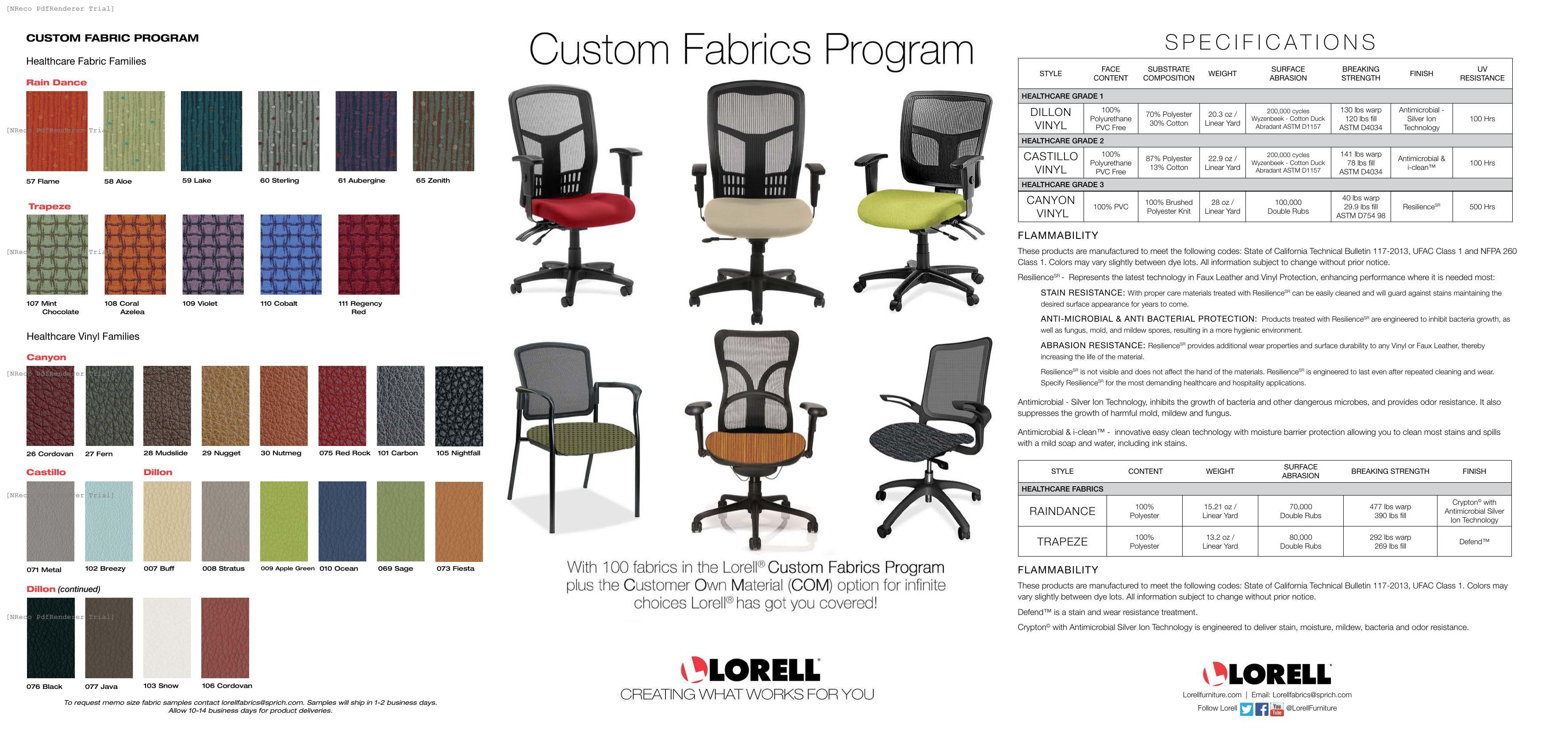 Lorell Custom Fabric Card