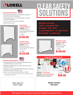 Lorell Clear Safety Solutions Flyer June 2020