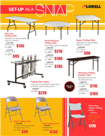 Lorell Set Up In A Snap Folding Tables Flyer  Apri